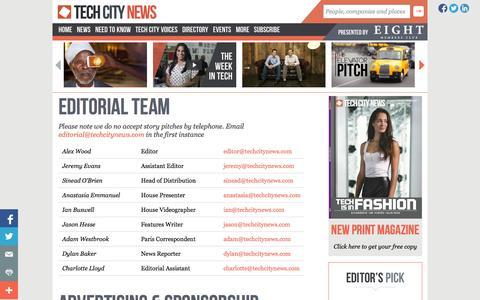 Screenshot of Team Page techcitynews.com - Editorial Team - Tech City News   Tech City News - captured Sept. 23, 2014