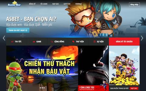 Screenshot of Home Page asonline.vn - Avatar Star - Game bắn súng dành cho mọi lứa tuổi - captured March 2, 2017