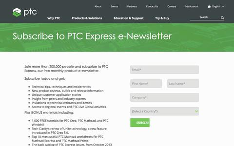 Subscribe to PTC Express e-Newsletter | PTC