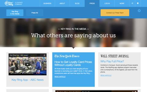 Screenshot of Press Page keyringapp.com - Media | Key Ring - captured Sept. 16, 2014