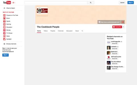 Screenshot of YouTube Page youtube.com - The Cookbook People  - YouTube - captured Oct. 22, 2014
