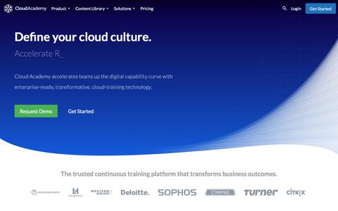 Screenshot of Home Page cloudacademy.com - Cloud training that drives digital transformation - captured Nov. 27, 2017