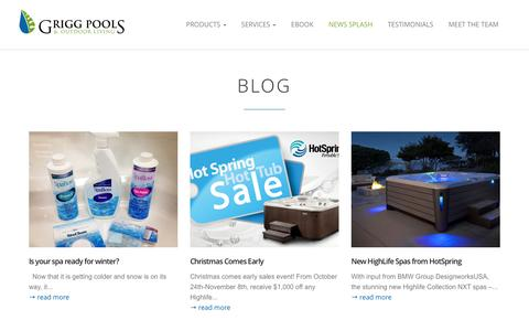 News Splash | Grigg Pools and Outdoor Living