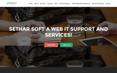 Screenshot of Press Page setharsoft.com - Web Design & Development   SEO   SMM   IT Services - captured Aug. 14, 2015