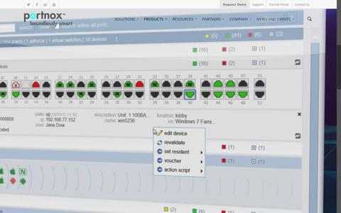 Screenshot of Products Page portnox.com - The Portnox Platform |  Portnox - captured Dec. 10, 2015