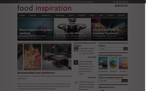 Screenshot of Home Page foodinspiration.nl - Food Inspiration - Food trends - Horeca trends en Inspiratie - captured Sept. 25, 2014