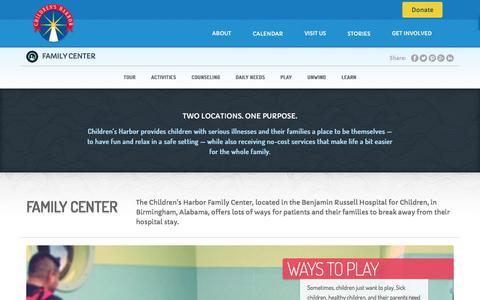 Screenshot of Locations Page childrensharbor.com - Children's Harbor Family Center - captured July 17, 2018