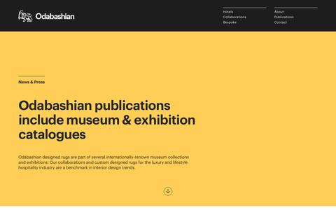 Screenshot of Press Page odabashian.com - Odabashian   Publications - captured Nov. 28, 2016