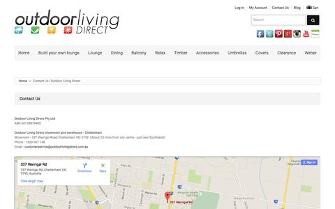 Screenshot of Contact Page outdoorlivingdirect.com.au - Contact Us | Outdoor Living Direct - captured Feb. 26, 2016