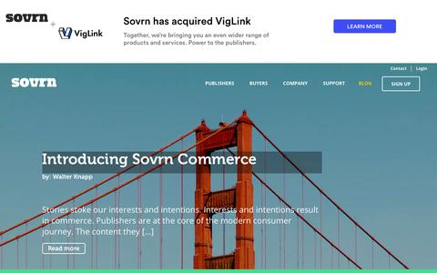 Screenshot of Blog sovrn.com - Updates on Ad Serving Technology & Industry News - captured Jan. 10, 2019