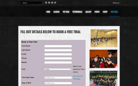 Screenshot of Trial Page kickboxuk.com - Free Trial - KICKBOXUK - captured Oct. 29, 2014
