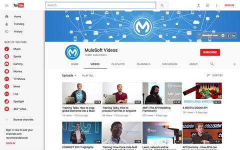 MuleSoft Videos - YouTube
