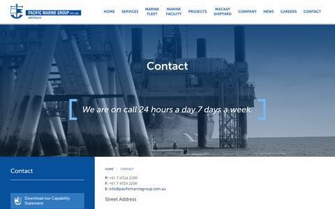 Screenshot of Contact Page pacificmarinegroup.com.au - Pacific Marine Group |  Contact Us - captured Nov. 4, 2018