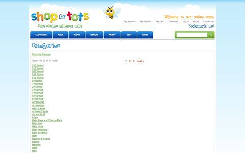 Screenshot of Site Map Page shopfortots.com.au captured Oct. 7, 2014