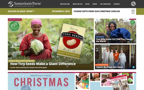 Screenshot of Home Page samaritanspurse.org - Samaritan's Purse — International Relief - captured Dec. 5, 2015