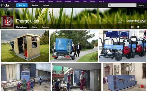 Screenshot of Flickr Page flickr.com - Flickr: Energolukss' Photostream - captured Oct. 22, 2014