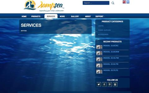 Screenshot of Services Page lampsea.com - SERVICES | Lampsea - captured Oct. 28, 2014