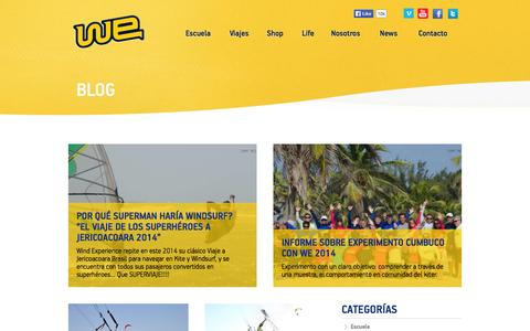 Screenshot of Press Page windexperience.com - Wind Experience Blog | Lo último en deportes extremos - captured Oct. 7, 2014