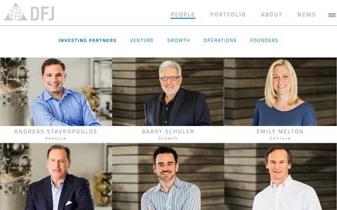 Screenshot of Team Page dfj.com - People | DFJ Venture Capital - captured June 28, 2017