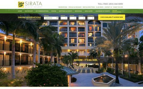 Screenshot of Press Page sirata.com - St. Pete Resort | Press Room | Sirata Beach Resort - captured Oct. 9, 2014
