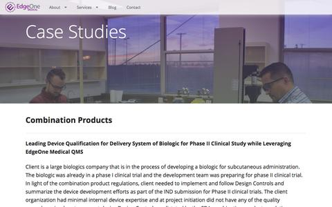 Screenshot of Case Studies Page edgeonemedical.com - Case Studies | EdgeOne Medical - captured July 11, 2016