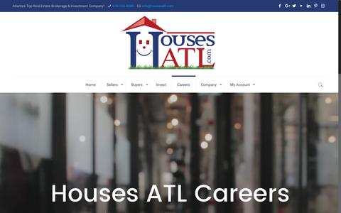 Screenshot of Jobs Page housesatl.com - Careers - Houses ATL - captured May 23, 2017