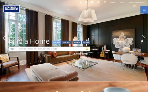 Screenshot of Home Page coldwellbanker.com - Real Estate Listings & Homes for Sale | Coldwell Banker - captured Jan. 22, 2015