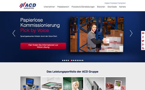 Screenshot of Home Page acd-gruppe.de - ACD Gruppe - - captured Oct. 6, 2017