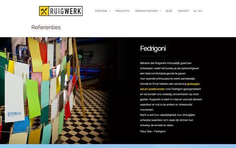 Screenshot of Testimonials Page ruigwerk.com - Referenties | Ruigwerk - captured Oct. 9, 2014