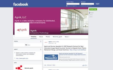 Screenshot of Facebook Page facebook.com - Agnik | Facebook - captured Oct. 23, 2014