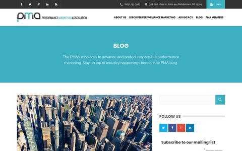 Screenshot of Blog thepma.org - Blog | The PMA - captured June 20, 2018