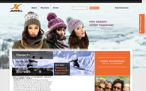 Screenshot of Home Page jamhill.co.uk - JamHill providing a diverse range of active sport accessories | JamHill - captured Oct. 3, 2014
