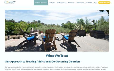 What We Treat - Drug and Addiction Treatment Centers | Promises