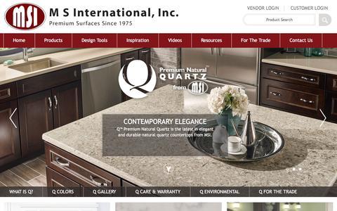 Screenshot of msistone.com - Quartz | Quartz Countertops | Quartz Counters | Q Premium Natural Quartz - captured March 19, 2016