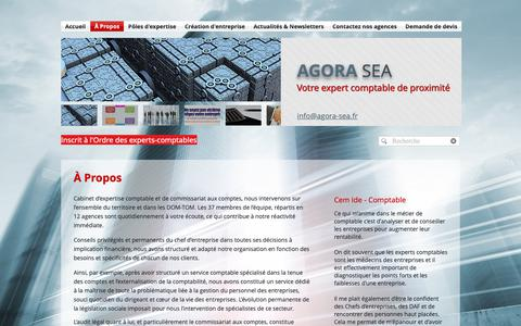 Screenshot of About Page agora-sea.fr - AGORA SEA - Expert-comptable - A propos du cabinet - captured Oct. 2, 2018