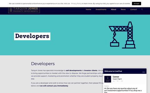 Screenshot of Developers Page tarquinjones.com - Property Developers | Tarquin Jones Property Investment UK - captured Oct. 19, 2018
