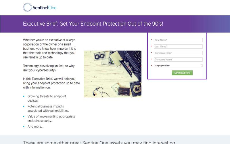 Executive Brief  Endpoint Protection   Sentinelone.com