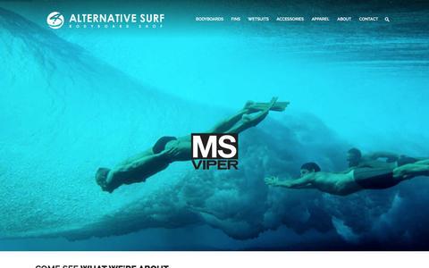 Screenshot of Home Page alternativesurf.com - Alternative Surf - Since 1995 - captured Feb. 5, 2016