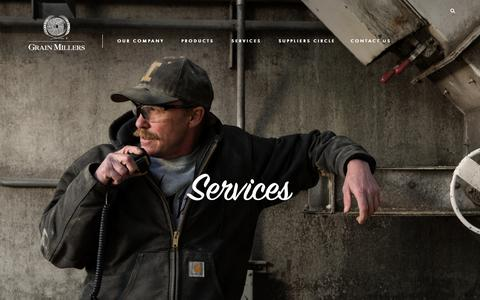 Screenshot of Services Page grainmillers.com - Grain Millers Services | Rolled Oat Manufacturer & Supplier | Oat Miller - captured Sept. 30, 2018