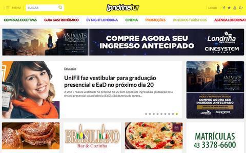 Screenshot of Home Page londrinatur.com.br - Londrina - LondrinaTur: O maior portal de Londrina e norte do Paraná - captured Nov. 9, 2016