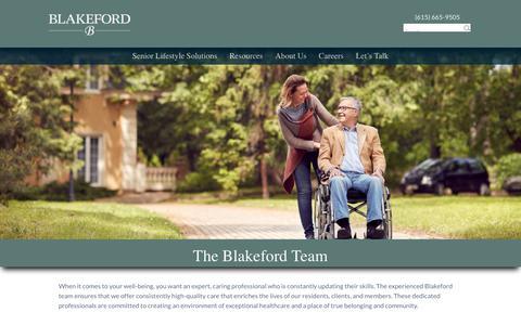 Screenshot of Team Page blakeford.com - Our Team - Blakeford - captured Aug. 2, 2018