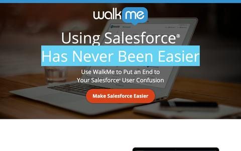 Screenshot of Landing Page walkme.com - Using Salesforce® Has Never Been Easier - WalkMe™ - Digital Adoption Platform - captured Sept. 27, 2018