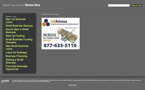 Screenshot of Home Page start-up.mobi captured Oct. 7, 2014