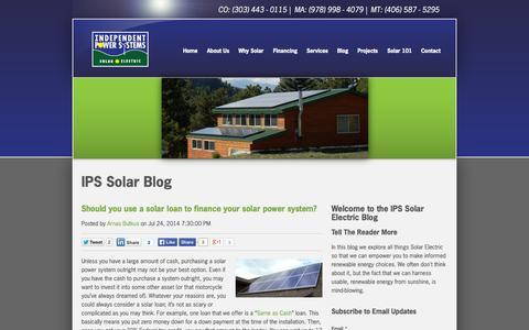 Screenshot of Blog solarips.com - Solar Blog - captured Oct. 4, 2014