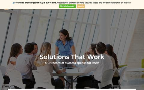 Screenshot of About Page edcor.com - EdcorEdcor - About Us - Solutions That Work - captured May 14, 2019