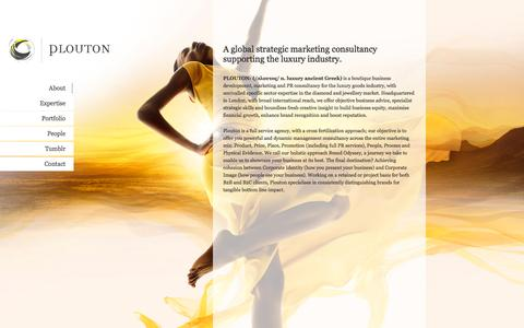 Screenshot of About Page plouton.co.uk - Plouton Consulting   Strategic Marketing Consultancy - captured Oct. 3, 2014