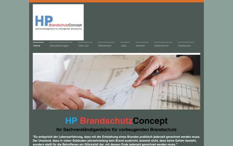 Screenshot of Home Page hp-brandschutz.de - HP Brandschutz Concept - Home - captured June 5, 2018