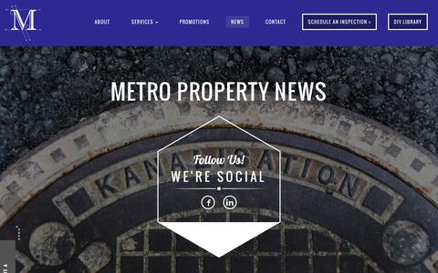 Screenshot of Press Page metropropertyinspection.com - Metro Property News - Metro Property Inspections - captured Feb. 13, 2016