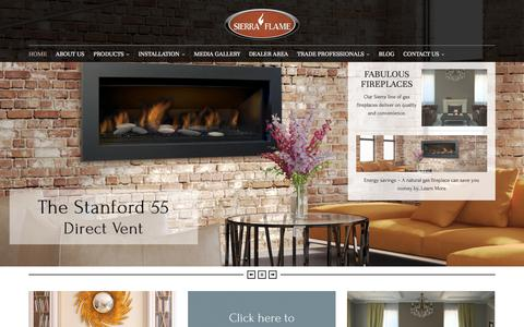 Screenshot of Home Page sierraflame.com - Sierra Flame Homepage | Gas Fireplaces | Sierra Flame - captured Oct. 7, 2014
