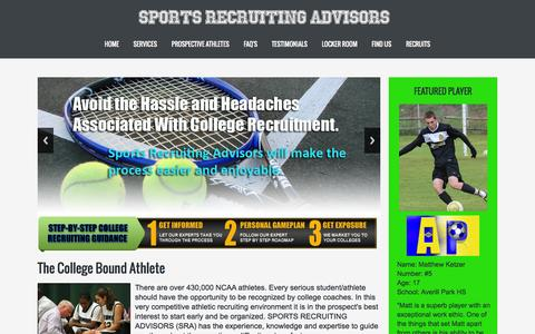 Screenshot of Testimonials Page sportsrecruitingadvisors.com - Sports Recruiting Advisors :: Home - captured Aug. 14, 2015